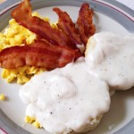 Biscuits and gravy warms the heart