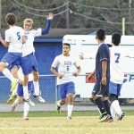 Soccer: Late goals from underclassmen propel Elks to victory