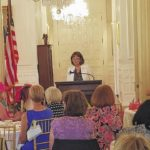 Zachary shares women in politics at Governor's Mansion