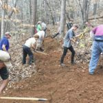 EVTA and Friends work on part of Bike Trail