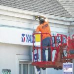 Conversion from Yadkin Bank to First National Bank took place in Elkin over weekend