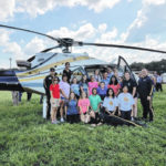 Students help with disaster training