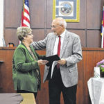 Tax administrator presented with Long Leaf Pine award