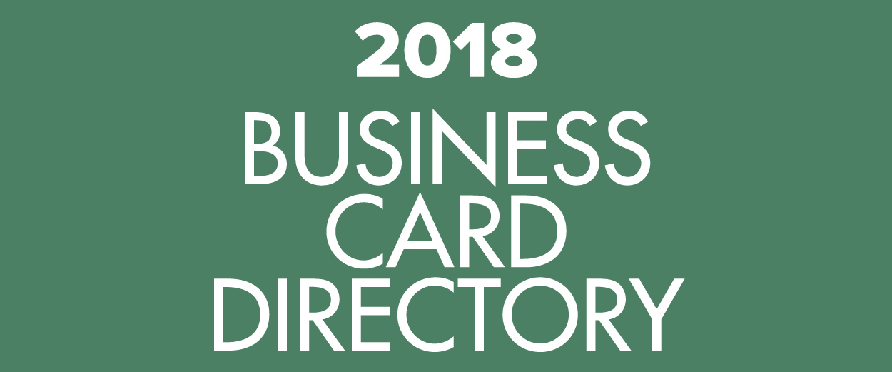 2018 Business Card Directory promo