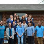 Children's Center joins prevent child abuse North Carolina for Wear Blue Day