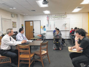Commissioners meet with students on school safety issues
