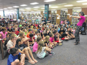Summer reading rocks at Yadkin library