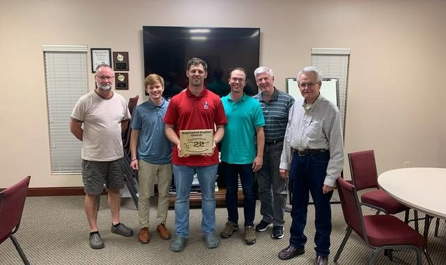 Maplewood Baptist Church members work with a veterans group to host a cyclists completing a state-wide bike ride. From left, Danny Watts, Curtis Carmack, Ricky Love (Leader of event), Drake Phillips, Jimmy Lancaster and Jim Graham.
