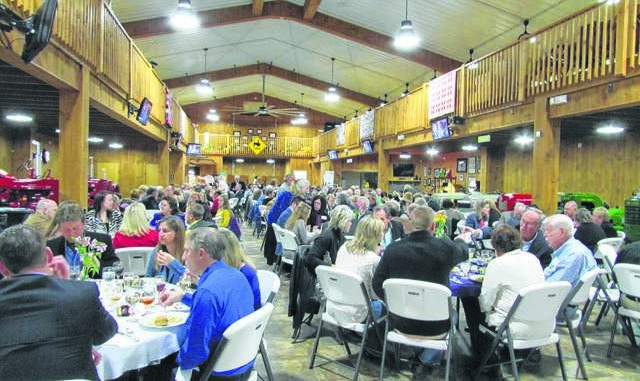 Yadkin County Chamber of Commerce members gather for 2015 annual dinner and awards banquet at Tractor Brown's Museum in Yadkinville.                                  File photo
