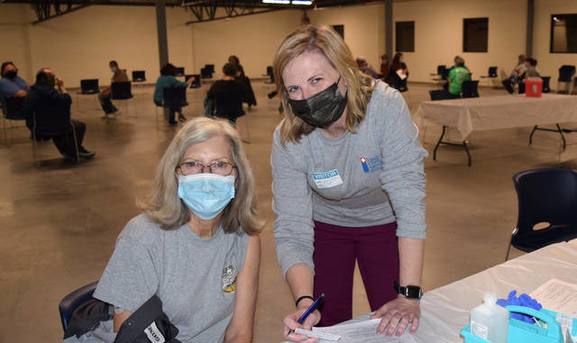 Hugh Chatham Memorial Hospital staff facilitates an on-site vaccine clinic for employees at PVH in Jonesville.