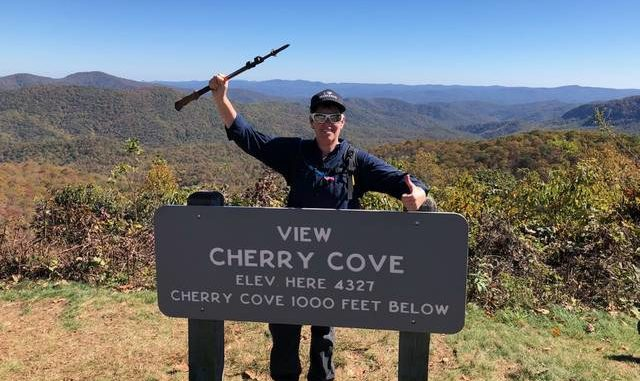 """Julie Gayheart (trail name """"Jester""""), of Charlotte, will feature N.C. Trail Days in this week's episode of her popular podcast, Jester Section Hiker. Gayheart, who is a teacher, has recently become devoted to the Mountains-to-Sea Trail and spent the pandemic featuring day hikes along the MST in her podcast."""