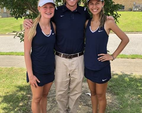 Forbush tennis players Megan Smith and Elei Ayers made it to the first round of the state championship.                                  Courtesy of Justin Vestal