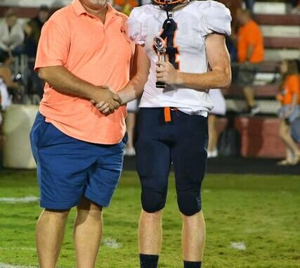 Zack Dezern was named Player of the Game for Starmount.                                  Kristian Russell | Elkin Tribune